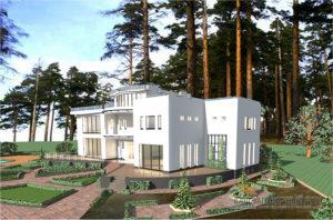 Нестандартный проект дома в 3 этажа, общей площадью 685 м2, К-0270