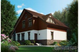 Проект двухъярусного дома, общей площадью 221 м2 К-03002