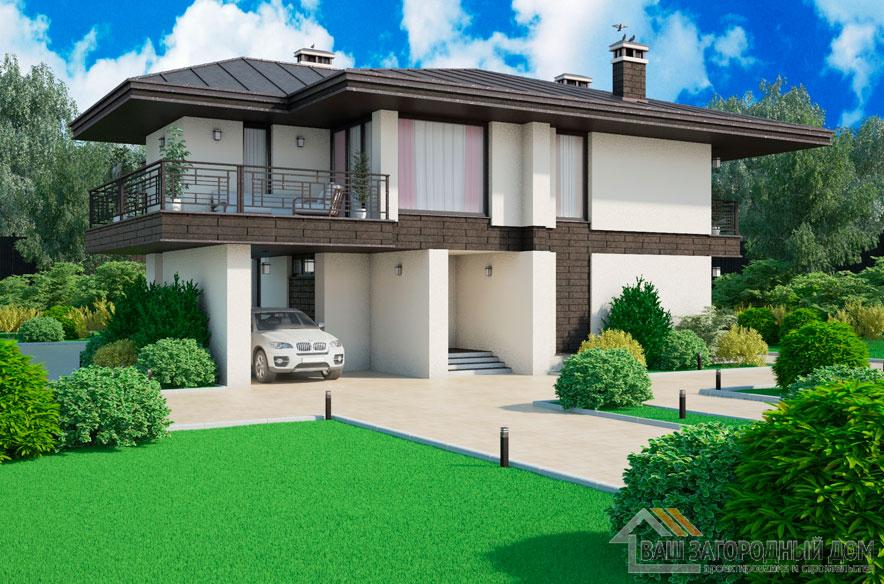 Проект 2 этажного керамического дома площадью 250 м2, К-0316