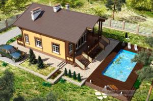 Проект двухэтажного каркасного дома площадью 162 м2, К-03402