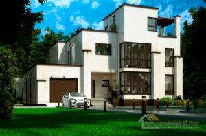 Проект 2 этажного керамического дома площадью 308 м2, К-0351
