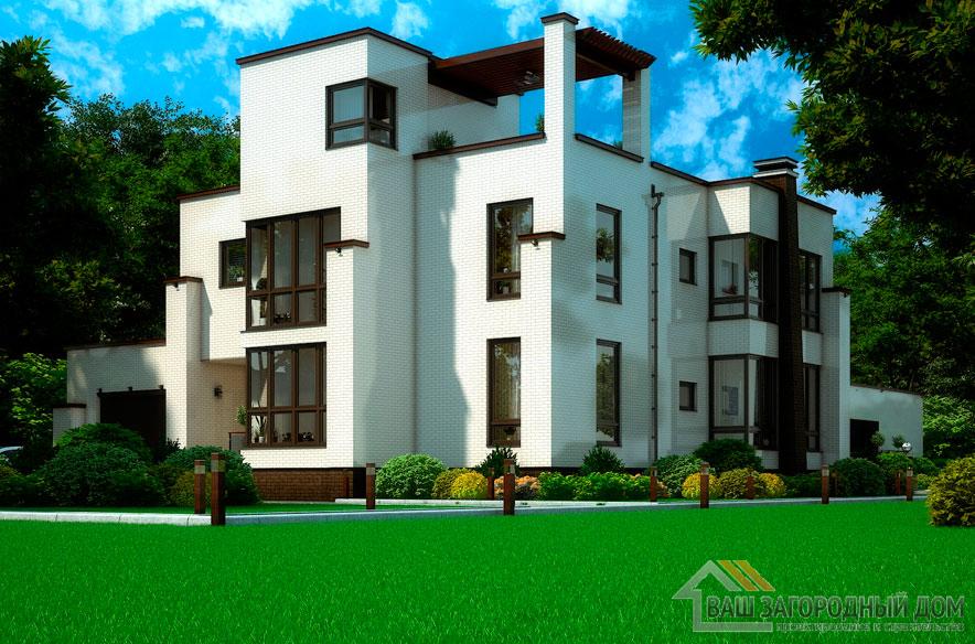 Проект 2 этажного дома, возведенного из керамических блоков площадью 308 м2, К-03512