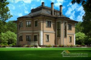 Проект 2 этажного дома, возведенного из кирпича площадью 270 м2, К-03532