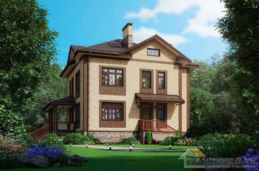 Проект 2 этажного газобетонного дома площадью 226 м2, К-0370