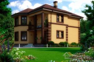 Проект 2 этажного дома, возведенного из керамических блоков площадью 214 м2, К-03752