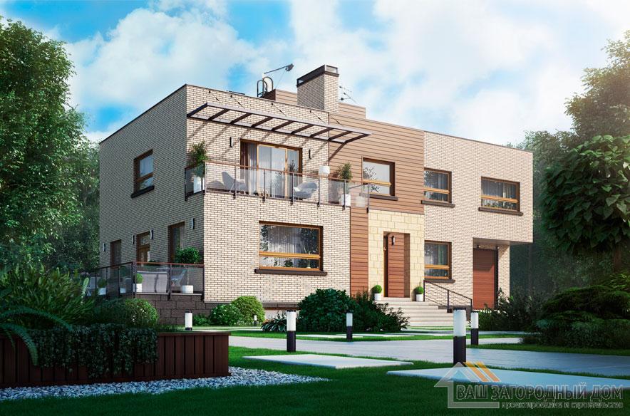 Проект 2 этажного каркасного дома площадью 603 м2, К-0376