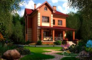 Классический проект 2-х этажного дома, общей площадью 264 м2, К-0378