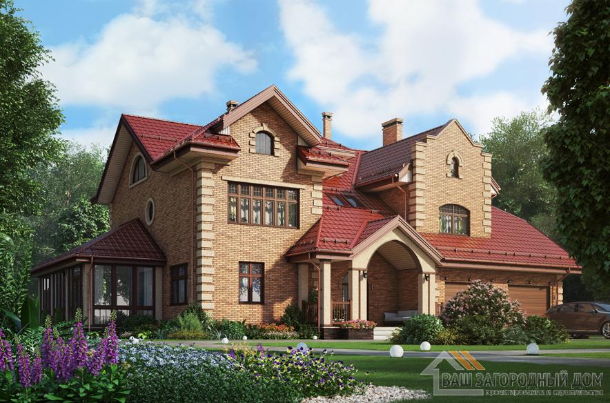 Проект 2 этажного керамического дома площадью 487 м2, К-0379