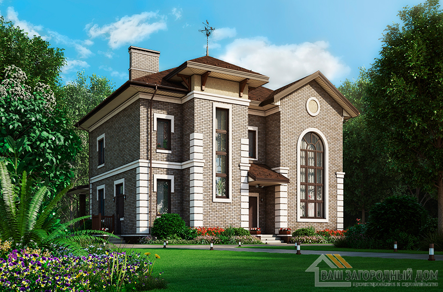 Проект дома в два этажа, общей площадью 250 м2, К-0381
