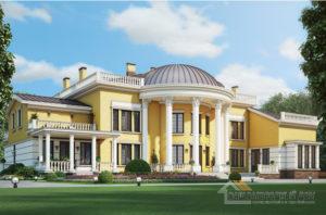 Проект 2 этажного дома, возведенного из кирпича площадью 1120 м2, К-03852