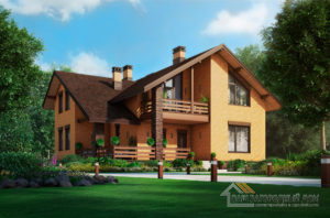 Проект 2 этажного газобетонного дома площадью 385 м2, К-0389