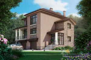 Проект 2 этажного дома, возведенного из керамических блоков площадью 365 м2, К-03962