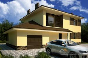 Проект 2 этажного газобетонного дома площадью 243 м2, К-0040