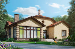 Проект 2 этажного газобетонного дома площадью 413 м2, К-04072