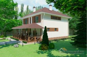 Проект 2 этажного газобетонного дома площадью 271 м2, К-0409