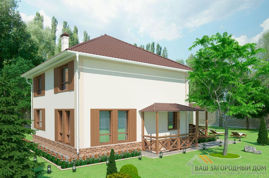 Проект 2 этажного дома, возведенного из газобетонных блоков площадью 271 м2, К-04092