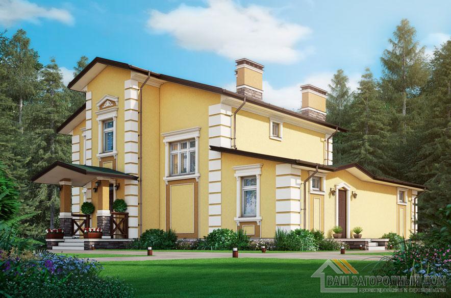 Проект 2 этажного дома, возведенного из газобетонных блоков площадью 185 м2, К-04112