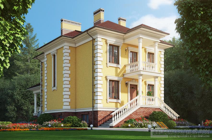 Проект 2 этажного газоблочного дома площадью 265 м2, К-0414
