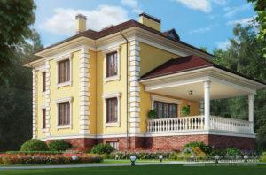 Проект 2 этажного дома, возведенного из газобетонных блоков площадью 265 м2, К-04142