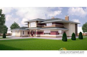 Проект 2 этажного кирпичного дома площадью 696 м2, К-0420