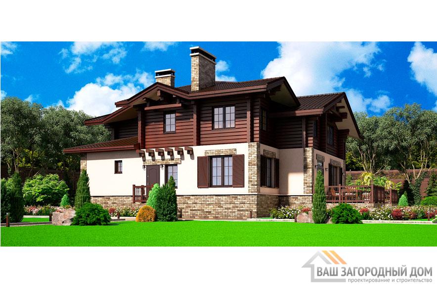 Проект 2 этажного дома, возведенного из керамических блоков площадью 295 м2, К-00642