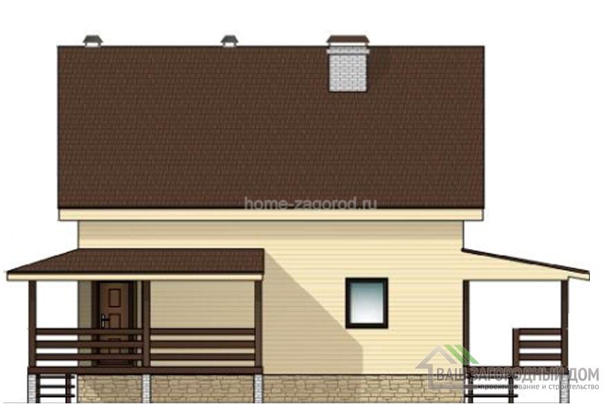 Проект 2 этажного деревянного дома площадью 127 м2, Д-02342