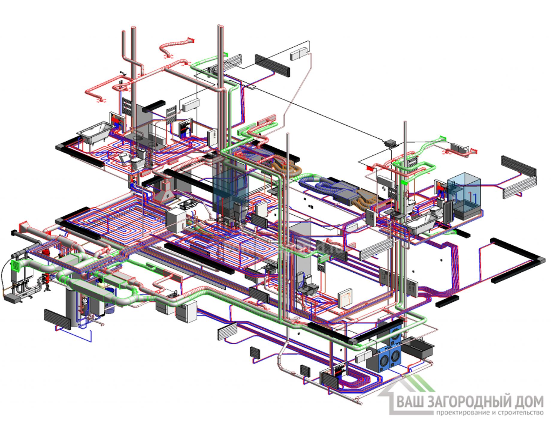 Проект отопления, вентиляц.  (ОВ)